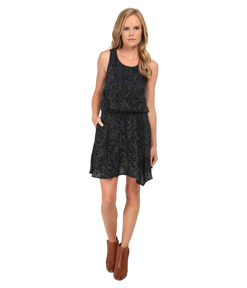 Splendid - Batik Crocodile Print Dress (Olive) Women's Dress