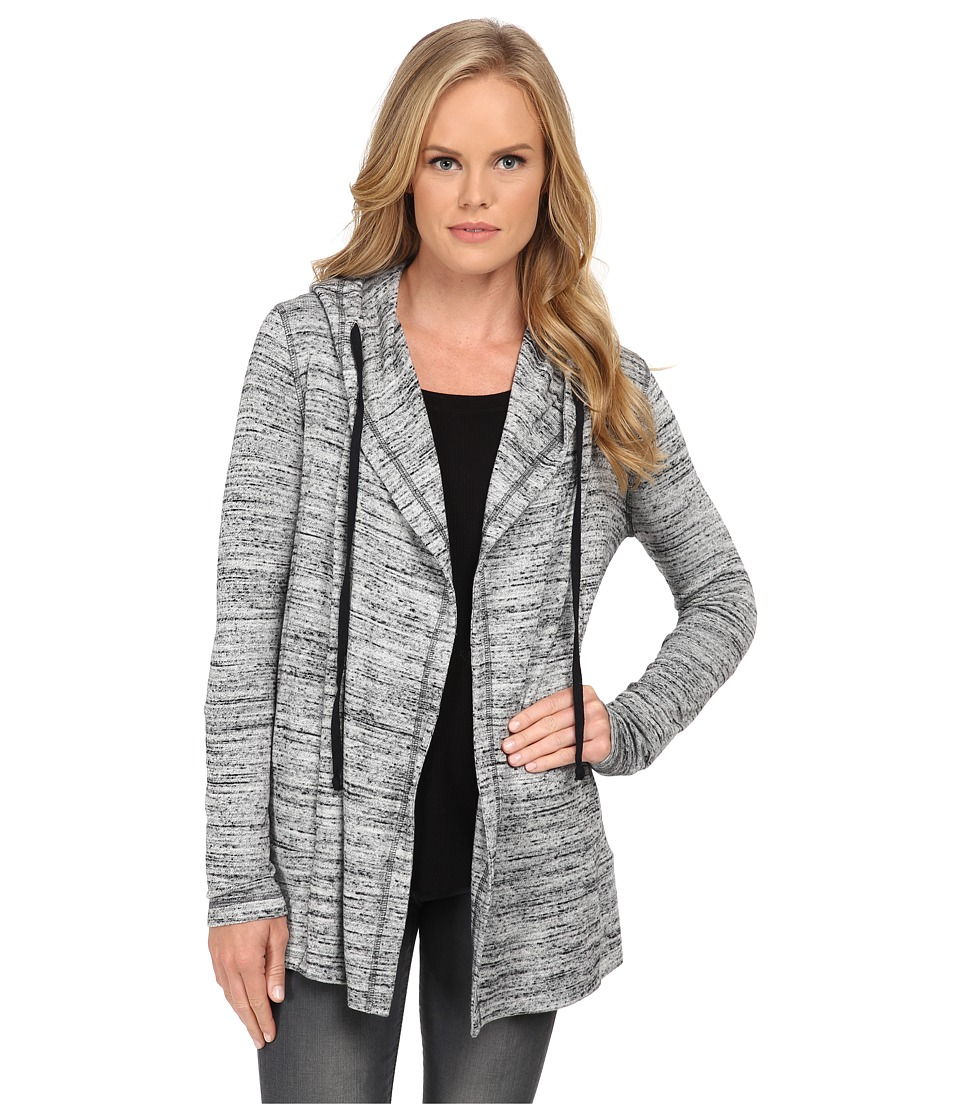 Splendid - Drapey Hood Cardi (Heather Grey) Women