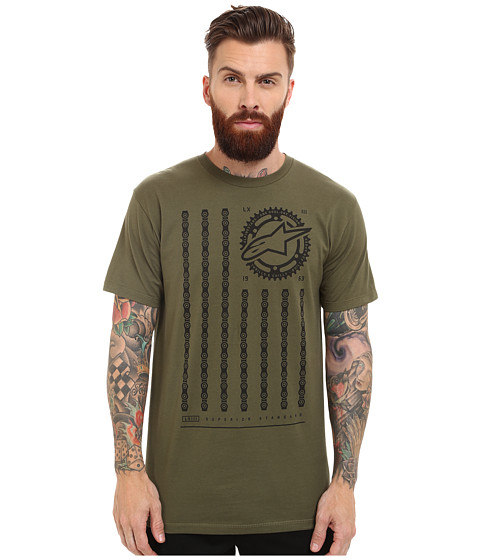 Alpinestars - Unchained Tee (Military Green) Men's T Shirt
