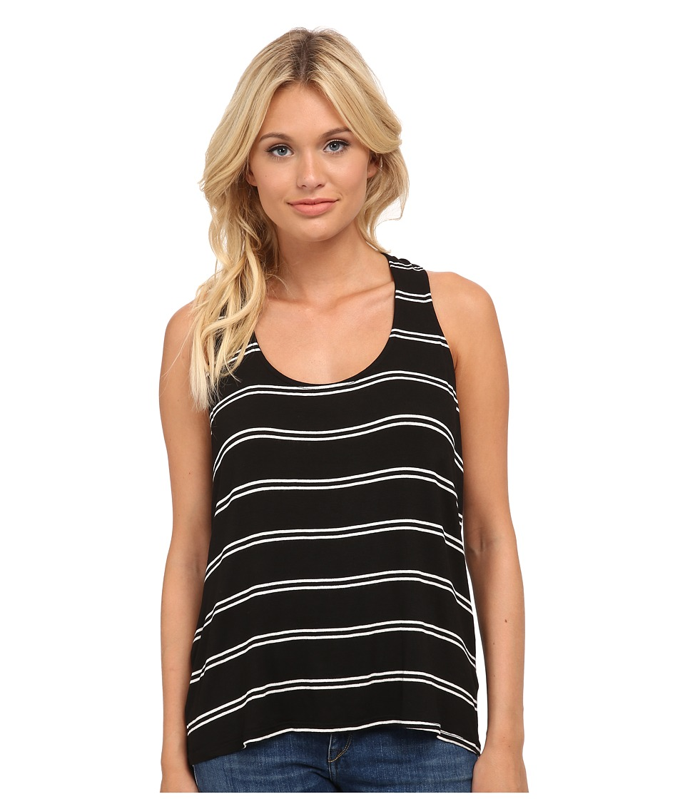 Splendid - Drape Back Tank Top (Black/White) Women
