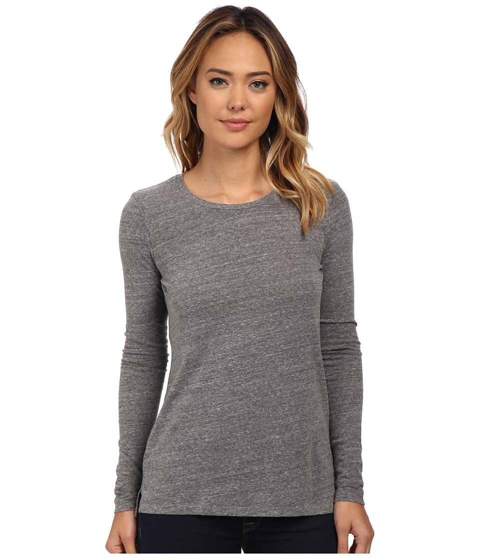 AG Adriano Goldschmied - Addison Long Sleeve (Heather Grey) Women's Clothing