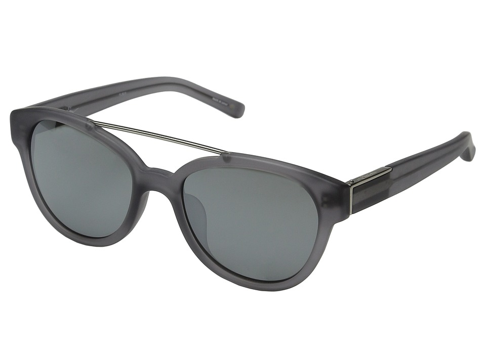 3.1 Phillip Lim - PL92 (Frosted Grey/Brushed Silver/Smoke Mirror) Fashion Sunglasses