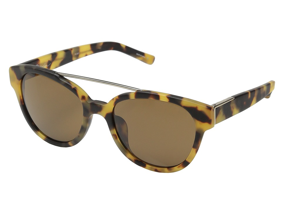 3.1 Phillip Lim - PL92 (Frosted Graphic Tortoise Shell/Light Gold/Brown) Fashion Sunglasses