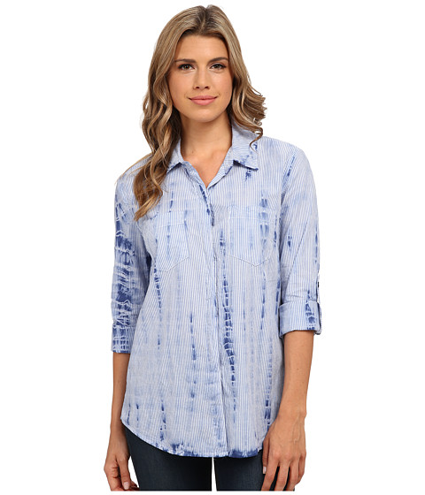 Splendid - Neo Woven Treatment Shirt (Navy Tie-Dye) Women's Clothing