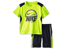 Just Do It Poly Short Sleeve Shorts Set