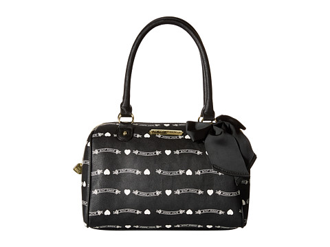 Betsey Johnson - Betsey Signature Banners Satchel (Black) Satchel Handbags