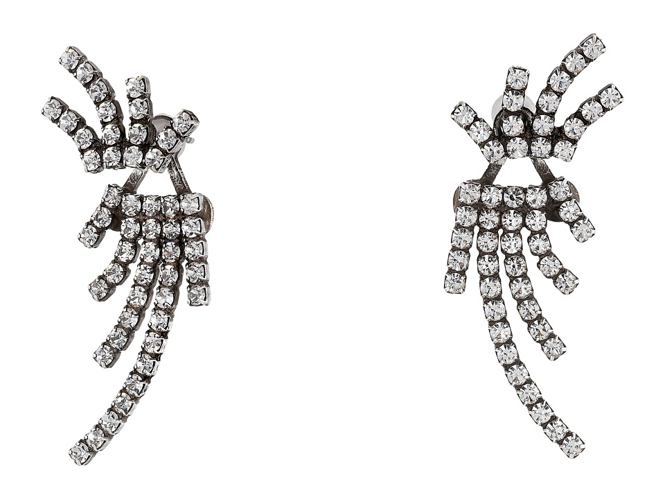 DANNIJO - WILLIS Ear Jacket Earrings (Silver/Crystal) Earring