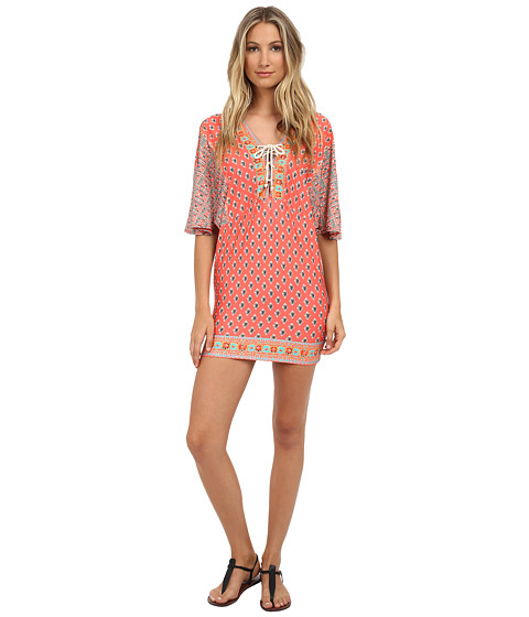 Nanette Lepore - Bindi Covers Tunic Cover-Up (Coral) Women's Swimwear