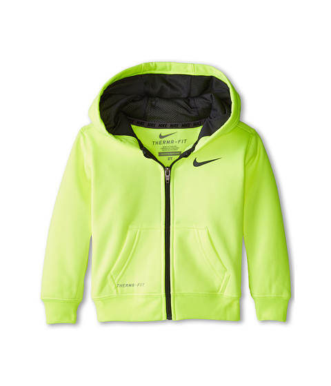 Nike Kids - KO 2.0 Full Zip Hoodie (Little Kids) (Volt) Boy