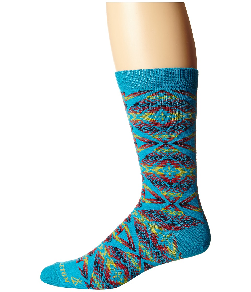 Pendleton - Thunder/Earthquake Crew (Turquoise) Crew Cut Socks Shoes