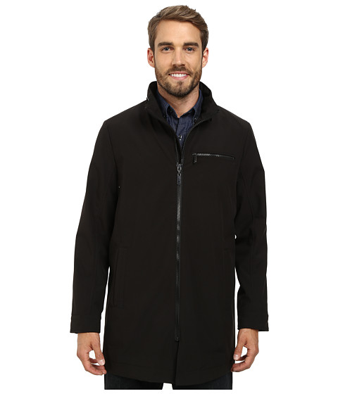 Kenneth Cole New York - Soft Shell Zip Jacket (Black) Men
