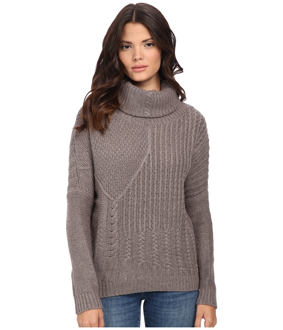 Splendid - Stanton Cable Pullover (Mink) Women's Clothing