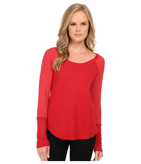 Splendid - Thermal Baseball Tee (Currant) Women