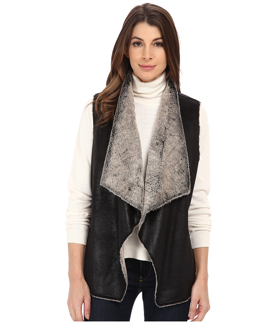 Marc New York by Andrew Marc - Blake 26 Faux Brisa Vest (Black) Women's Vest