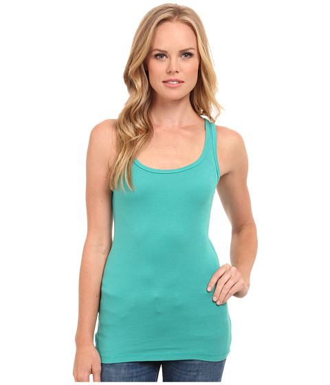 Splendid - 1x1 Tank Top (Tile Blue) Women