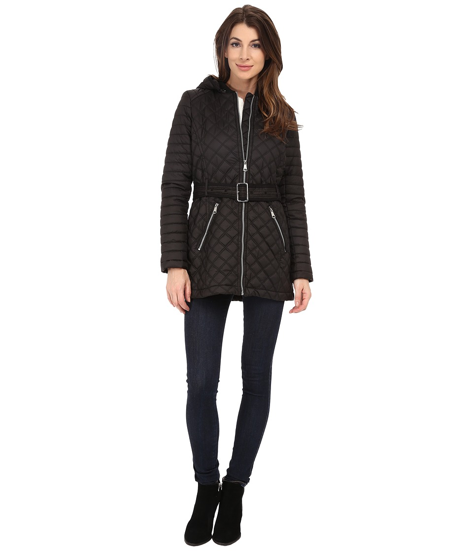 Marc New York by Andrew Marc - Miley 30 Quilt with Hood (Black) Women's Coat