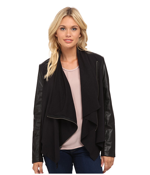 Splendid - Drape Front Jacket (Black) Women's Coat