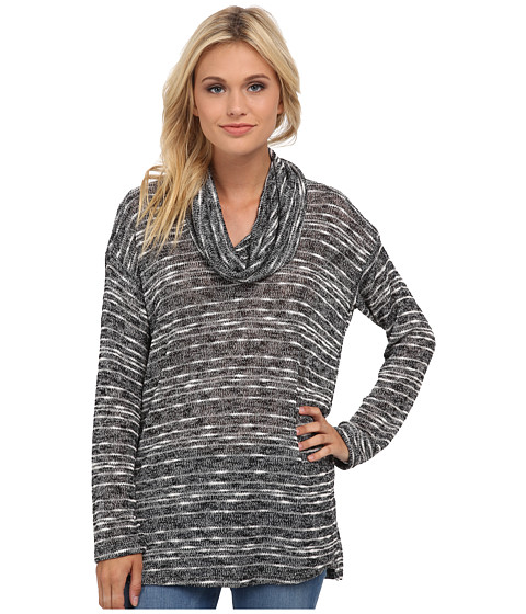 Splendid - Upstate Loose Knit Tunic (Black) Women's Blouse