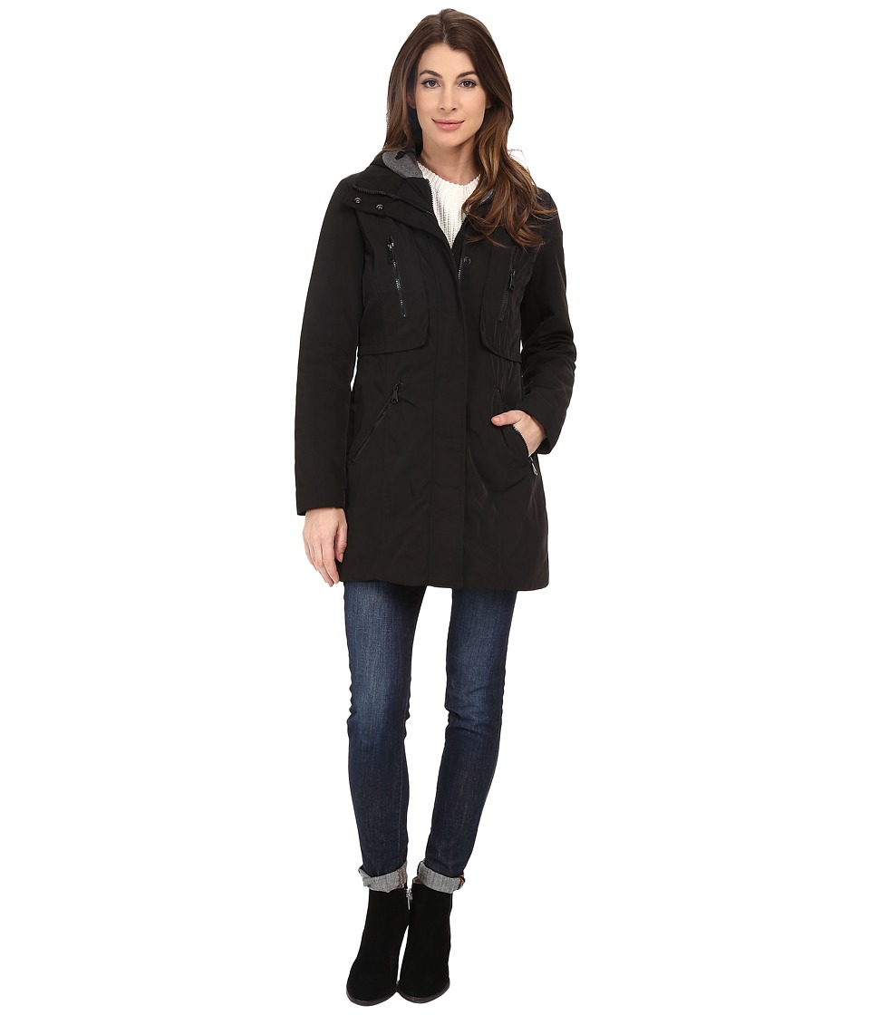 Marc New York by Andrew Marc - Dani 31 Luxe Rain with Hood (Black) Women's Coat
