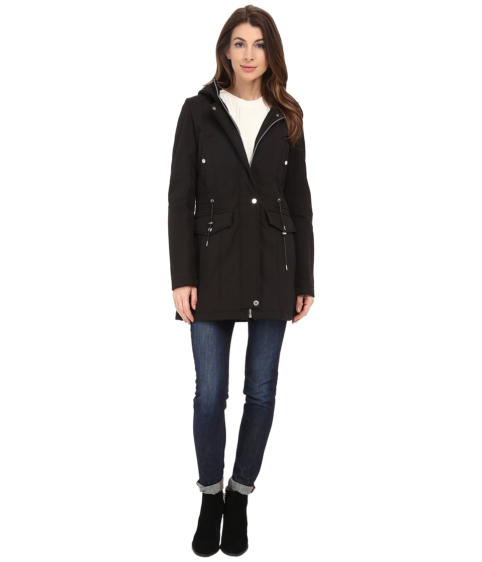 Marc New York by Andrew Marc - Roxie 30 Soft Shell Anorak (Black) Women's Coat