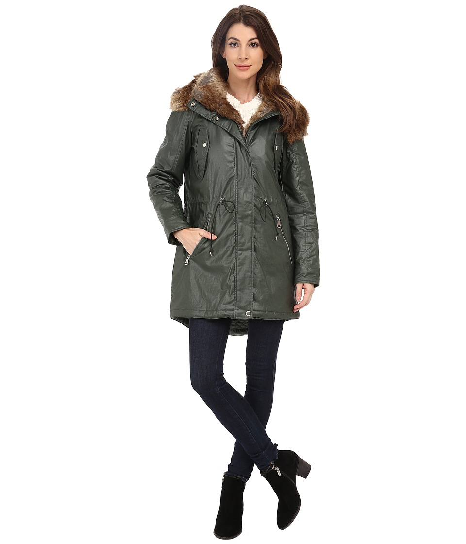 Marc New York by Andrew Marc - Lauren 35 Utility Rain Anorak (Olive) Women's Coat
