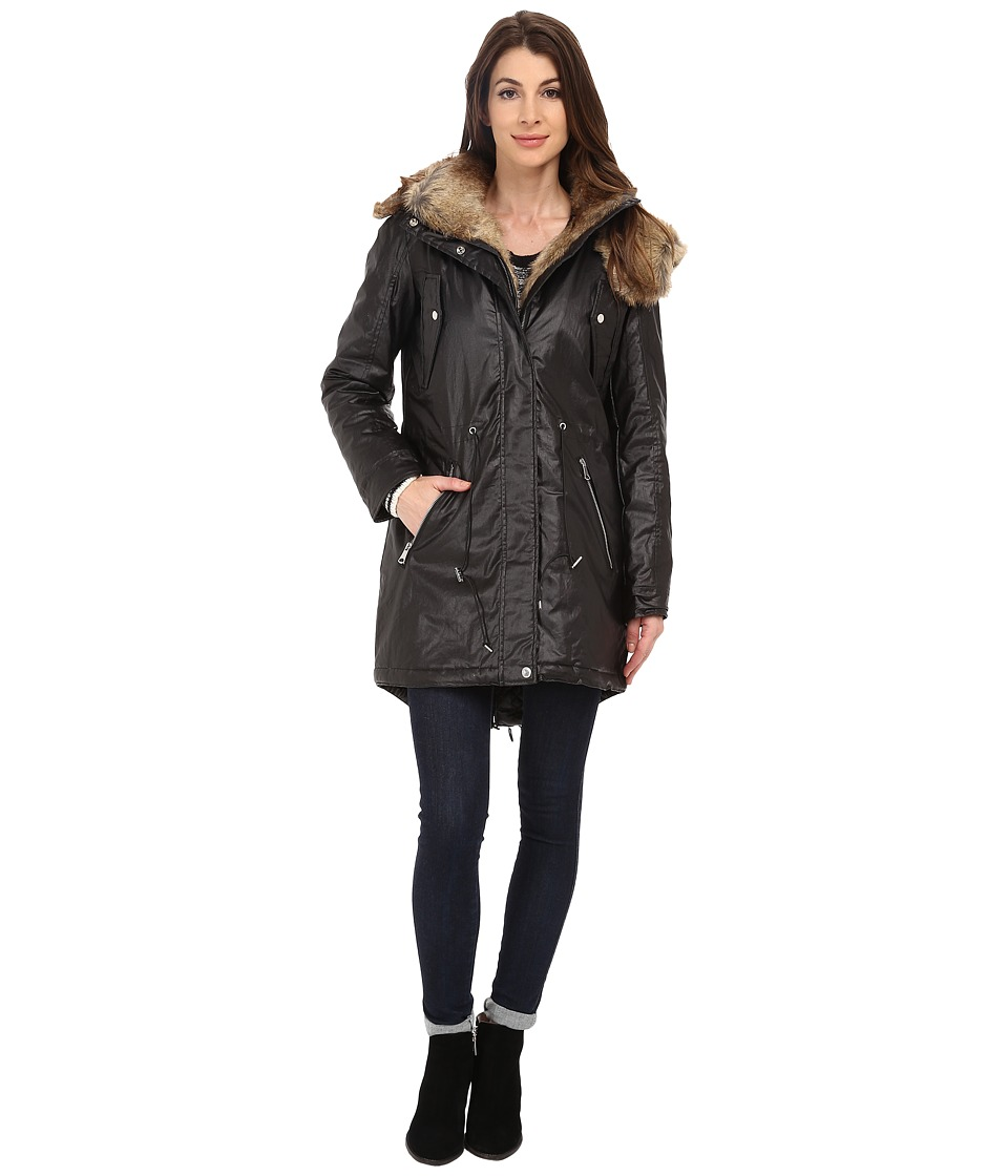 Marc New York by Andrew Marc - Lauren 35 Utility Rain Anorak (Black) Women's Coat