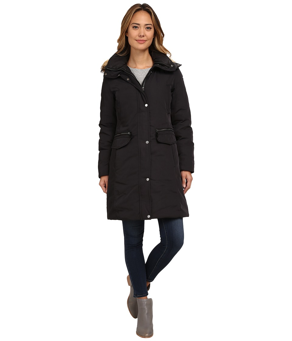 Marc New York by Andrew Marc - Warby 36 Utility Down w/ Faux Fur Hood (Black) Women