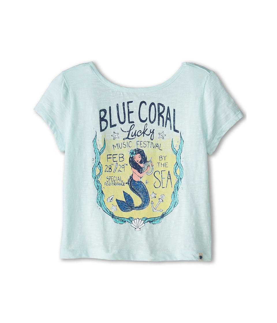 Lucky Brand Kids - Blue Coral Festival Tee (Big Kids) (Sthing Sea) Girl