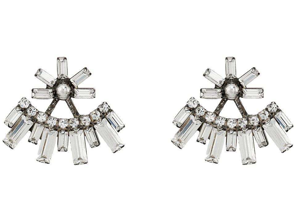 DANNIJO - CASPER Earrings (Silver/Crystal) Earring