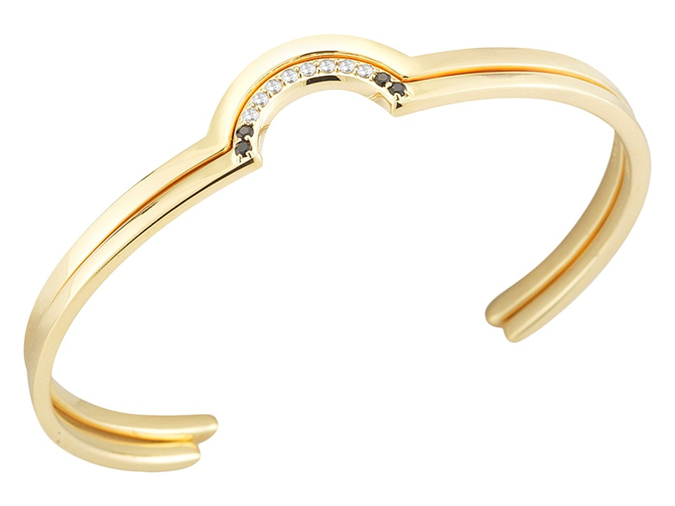 Elizabeth and James - Klint Stacking Bangles (Yellow Gold) Bracelet