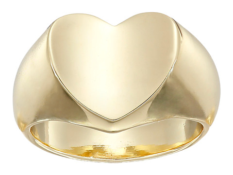 GUESS - Heart Signet Ring (Gold) Ring