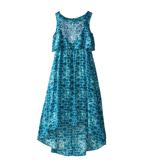 Lucky Brand Kids - Serra Flounce Hi Low Dress (Big Kids) (Blue Saphire) Girl's Dress