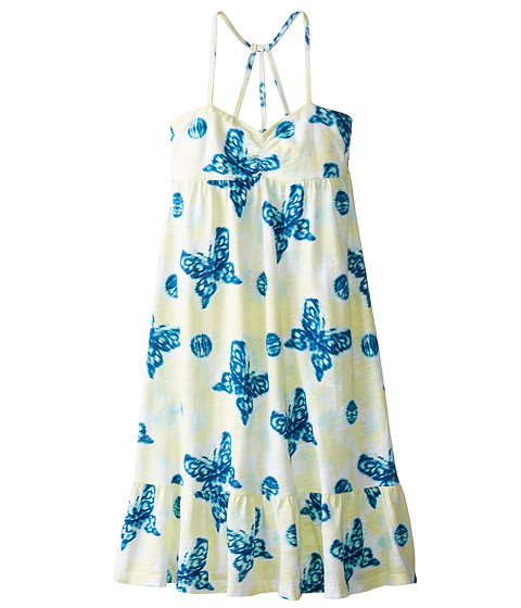 Lucky Brand Kids - Batik Butterfly Dress (Big Kids) (Wax Yellow) Girl's Dress