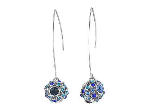 GUESS - Stone Ball On Wire Earrings (Silver/Blue) Earring