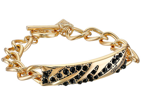 GUESS - Toggle Animal ID Bracelet (Gold/Jet) Bracelet