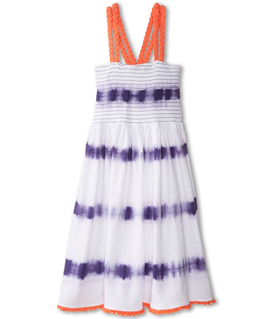 Lucky Brand Kids - Tie-Dye Stripe Smocked Dress (Big Kids) (Deep Wisteria) Girl