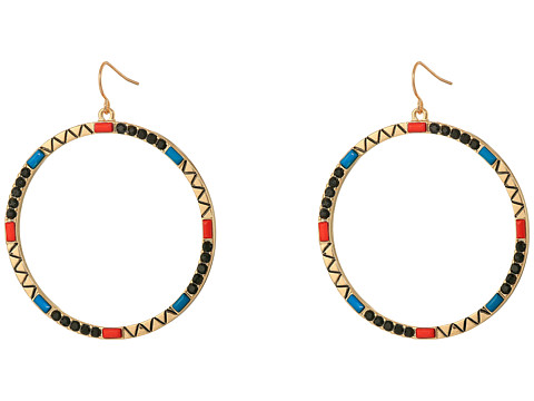 GUESS - Hoop On Wire Earrings (Multicolor) Earring
