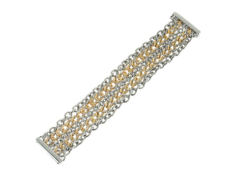 GUESS - Multi Chain Magnetic Close Bracelet (Silver/Gold) Bracelet