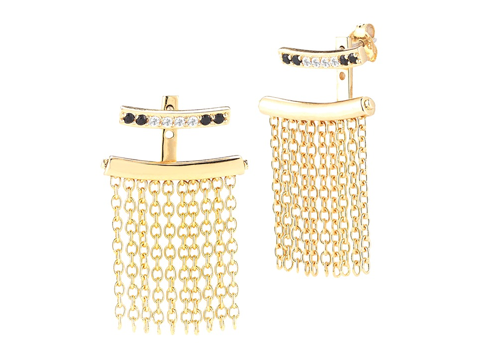 Elizabeth and James - Vago Ear Jacket Earrings (Yellow Gold) Earring