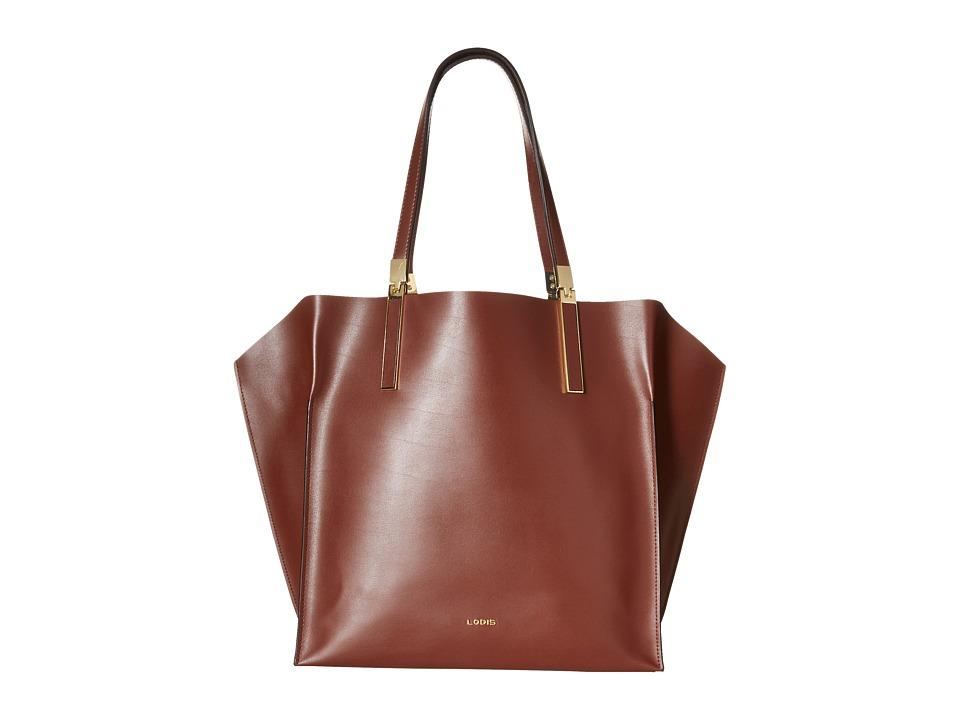 Lodis Accessories - Blair Unlined Lucia Travel Tote (Chestnut/Cobalt) Satchel Handbags