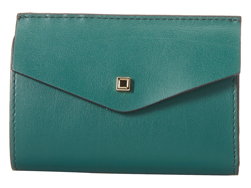 Lodis Accessories - Blair Unlined Rachel French Purse (Green/Cobalt) French Wallet