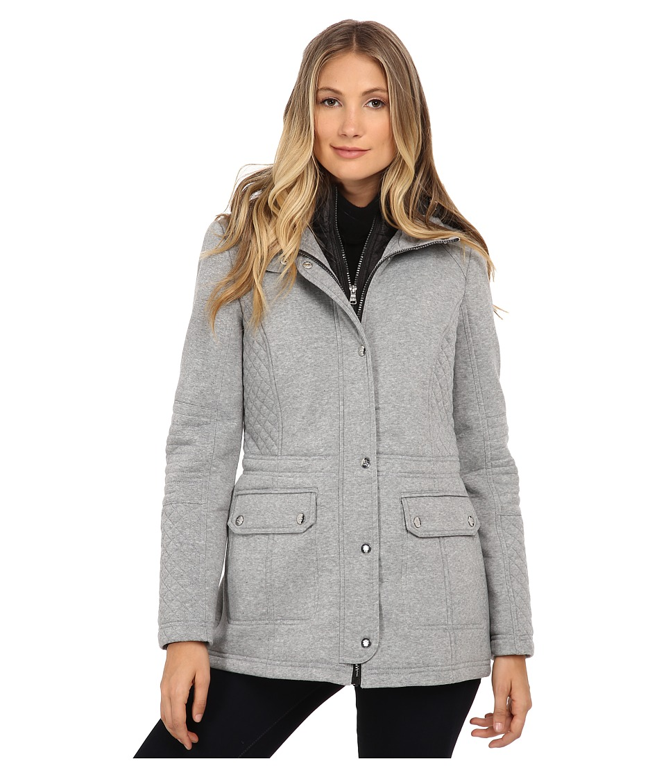 Jessica Simpson - Anorak Fleece Coat with Hood (Grey) Women's Coat
