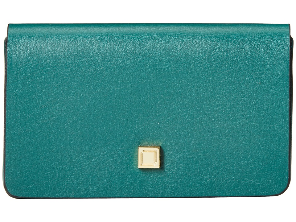 Lodis Accessories - Blair Mini Card Case (Green/Cobalt) Credit card Wallet