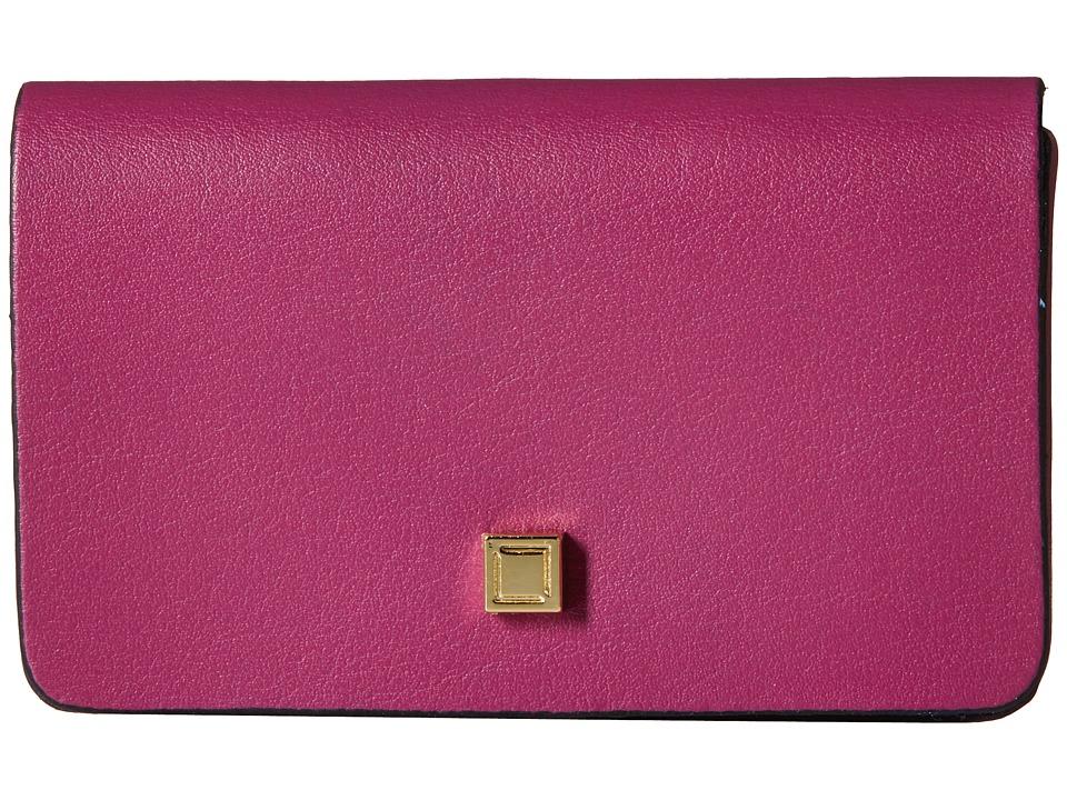 Lodis Accessories - Blair Mini Card Case (Plum/Cobalt) Credit card Wallet