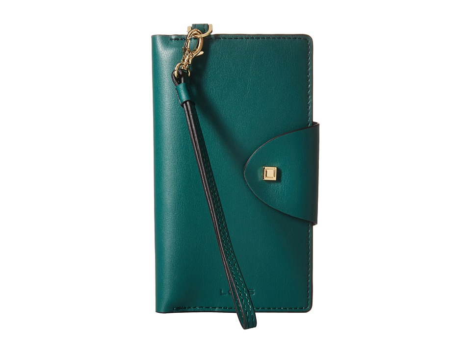 Lodis Accessories - Blair Unlined Lynne Flap Cell Phone Card Case (Green/Cobalt) Cell Phone Case