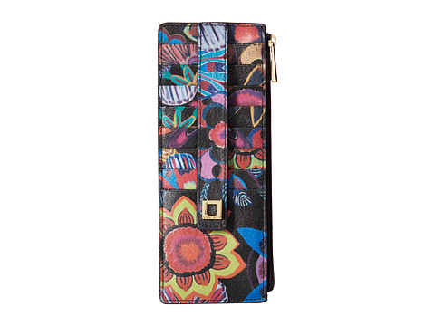 Lodis Accessories - Vanessa Print Credit Card Case with Zipper Pocket (Multi) Credit card Wallet