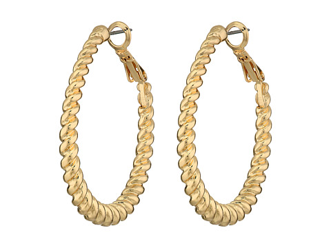 GUESS - Twisted Oval Hoop Earrings (Gold) Earring