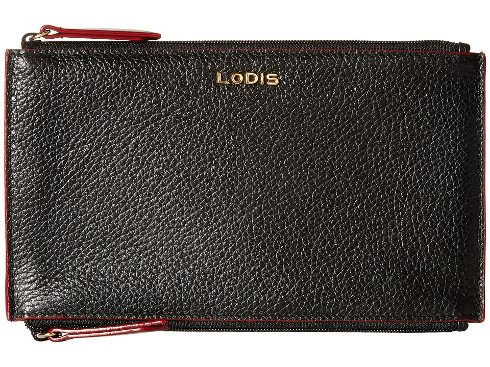 Lodis Accessories - Kate Lani Double Zip Pouch (Black) Wallet Handbags