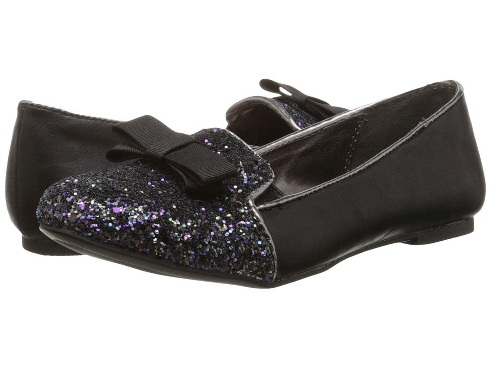 Nine West Kids - Felicity (Little Kid/Big Kid) (Black Glitter) Girl