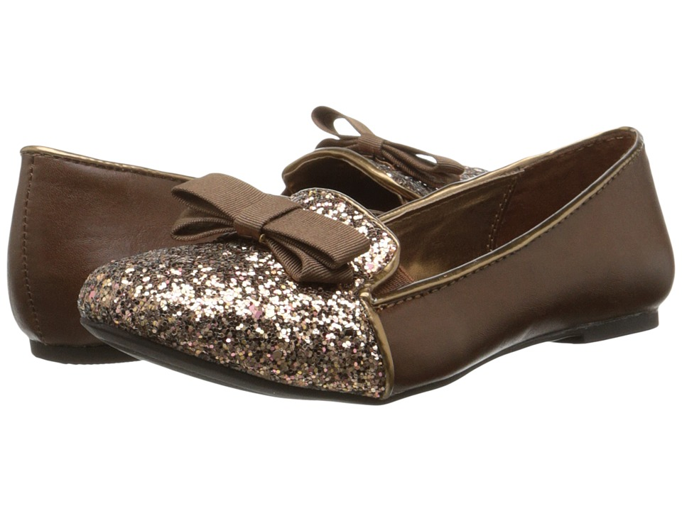 Nine West Kids - Felicity (Little Kid/Big Kid) (Bronze/Brown Glitter) Girl